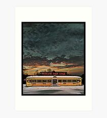 Vicksburg Mississippi Sky over the Highland Park Diner, Rochester Art Print