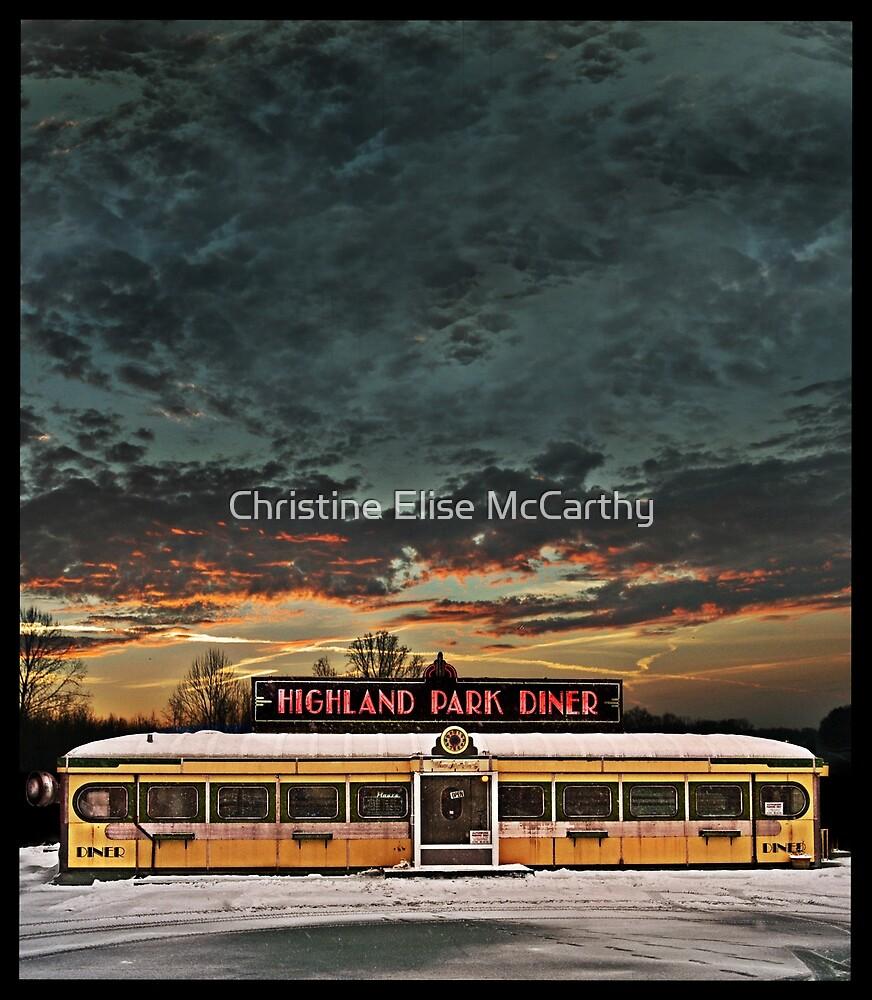 Vicksburg Mississippi Sky over the Highland Park Diner, Rochester by Christine Elise McCarthy