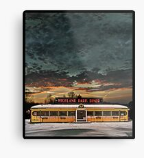 Vicksburg Mississippi Sky over the Highland Park Diner, Rochester Metal Print