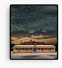 Vicksburg Mississippi Sky over the Highland Park Diner, Rochester Canvas Print