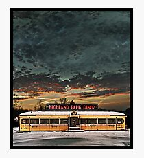 Vicksburg Mississippi Sky over the Highland Park Diner, Rochester Photographic Print
