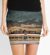 Vicksburg Mississippi Sky over the Highland Park Diner, Rochester Mini Skirt