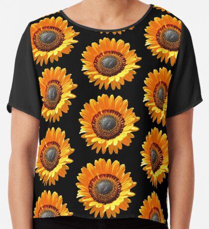 tolle gelbe Blume, Blüte, Sommer, Sonne  Chiffontop für Frauen