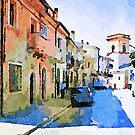 Borrello: glimpse with parked car by Giuseppe Cocco
