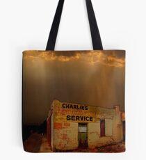 Charlie's Radiator Service, Milan, New Mexico Tote Bag