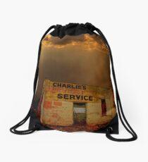 Charlie's Radiator Service, Milan, New Mexico Drawstring Bag