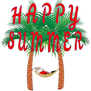Happy summer X-mas in july santa design by jhussar