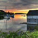 Sunset Over Hackett's Cove by Amanda White