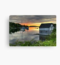Sunset Over Hackett's Cove Canvas Print