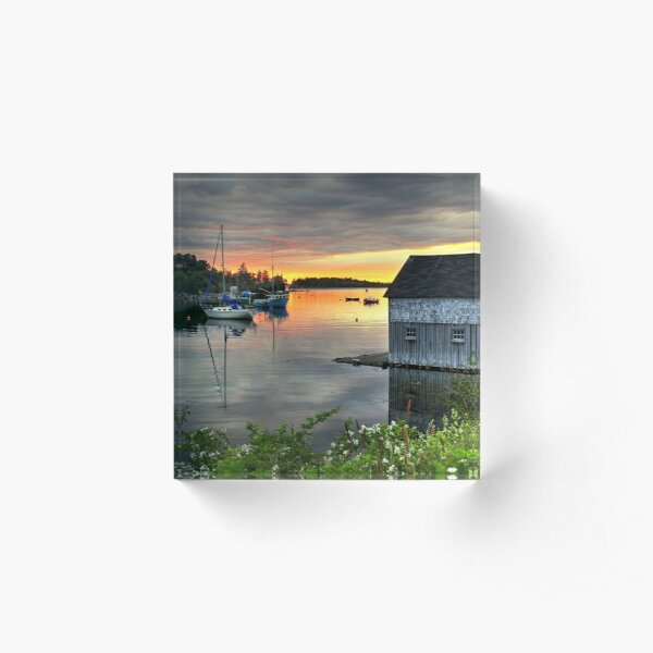 Sunset Over Hackett's Cove Acrylic Block