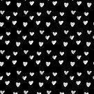 Inked Hearts Pattern by meandthemoon