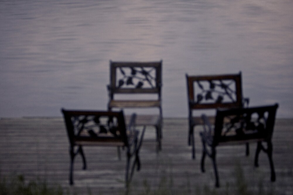 Early morning chairs by Drew Gregory