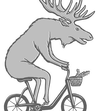 Moose on bike by amelielegault