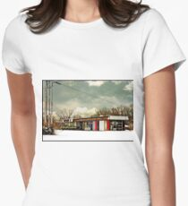 I-90 2-27-08 7:44 AM NEW YORK Fitted T-Shirt