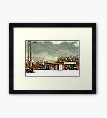 I-90 2-27-08 7:44 AM NEW YORK Framed Print
