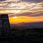 Blorenge sunset over the Brecon Beacons by sjbaldwin