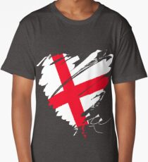 England Europe football London heart Long T-Shirt