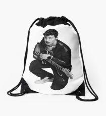 S.M. portrait in cris Drawstring Bag
