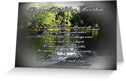 Brother Birthday Greeting Cards by Greeting Cards by Tracy DeVore – Brothers Birthday Card