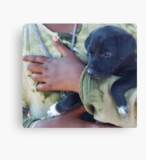 Puppy - Mahabalipuram, India Canvas Print