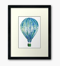 Watercolor Hot Air Balloon Framed Print