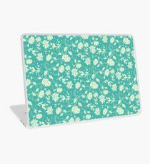 Delicate Blue Sunlight Flowers Blossom Laptop Skin