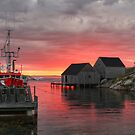 Last Light at Peggy's Cove by Amanda White