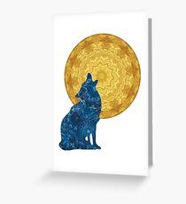 mysticism wolf Greeting Card