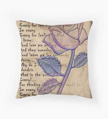 Crazy Verse Throw Pillow