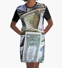 U.S CURRENCY Graphic T-Shirt Dress