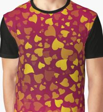 Hearts Colors3 Graphic T-Shirt