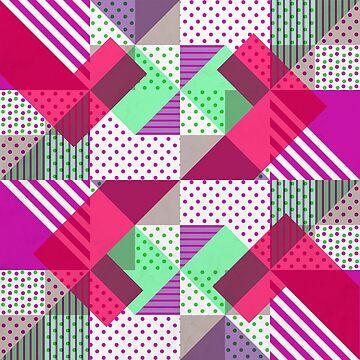 Geometric Polka Dots Petit Pois Neon by tobiasfonseca