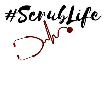 Nurse Scrub Life Themed Stethoscope by Deestylistic