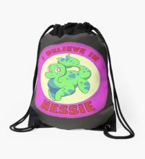 Cryptid Friends - I Believe in Nessie!  Drawstring Bag