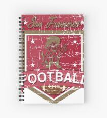 SAN FRANCISCO FOOTBALL - DISTRESSED DESIGN WITH A MINER Spiral Notebook