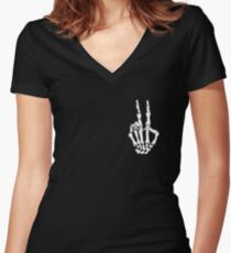 Rest in Peace. Women's Fitted V-Neck T-Shirt
