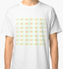 Retro Watercolor Rectangle Pattern Classic T-Shirt