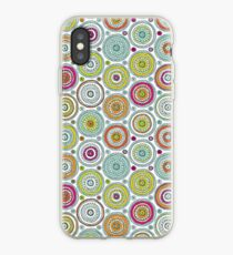 Circles Pen Pattern iPhone Case