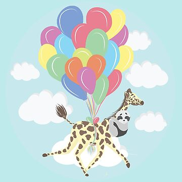 Kola Giraffe Flying with Balloons by SugarVeryGlider