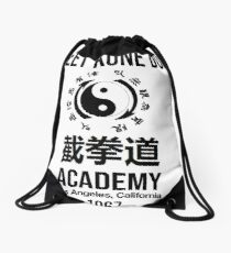 Jeet Kune Do Academy Martial Arts Bruce Lee Drawstring Bag