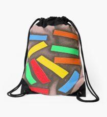 Colored Blocks Abstract Shapes Drawstring Bag