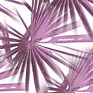 Lilac on White Tropical Vibes  Beach Palmtree Vector by taiche