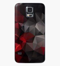 Abstrakter Hintergrund der Dreieckpolygontapete in den schwarzen roten Farben Hülle & Klebefolie für Samsung Galaxy