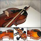 Violin Collage by BlueMidnight