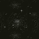 Galaxy Space Stars Astrology Night Time Black by thespottydogg