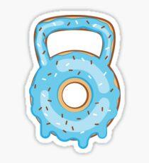 Funny Kettlebell Donut Workout Sticker