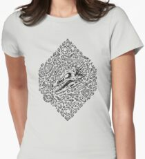 Hoard of the Crystal Dragon | Black Women's Fitted T-Shirt