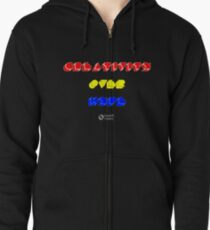 Creativity Over Hype (80s Version) Zipped Hoodie