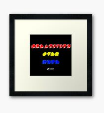 Creativity Over Hype (80s Version) Framed Print
