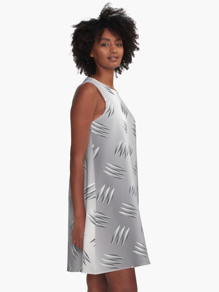 Alternate view of Metal Tread Plate Checker Plate Diamond Steel Aluminium A-Line Dress